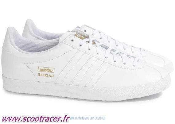adidas gazelle blanche cuir femme