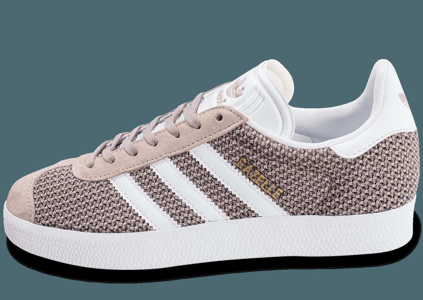 chaussure adidas femme gazelle gris