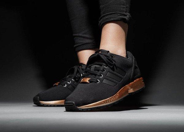 basket adidas noir et bronze