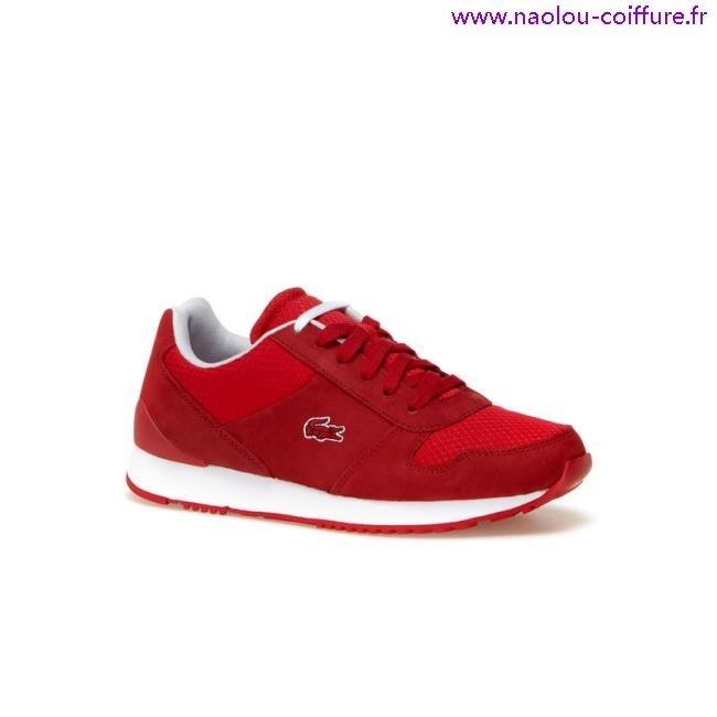 05ee79c5b9 basket lacoste femme rouge